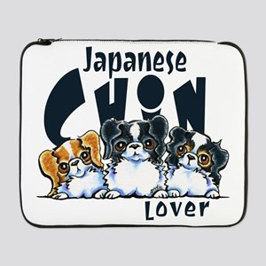 "Japanese Chin Lover 17"" Laptop Sleeve"