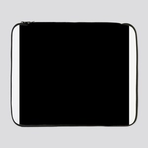 "Black solid color 17"" Laptop Sleeve"