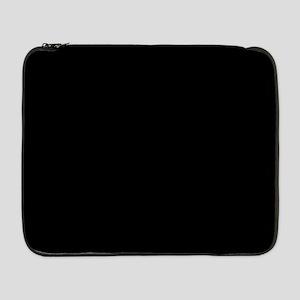 "Solid Black 17"" Laptop Sleeve"