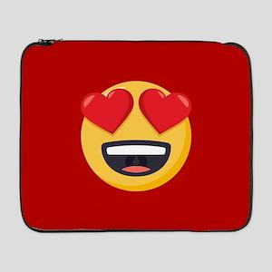 """Heart Eyes Emoji 17"""" Laptop Sleeve"""