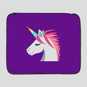 "Unicorn Emoji 17"" Laptop Sleeve"