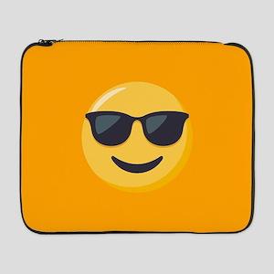 "Sunglasses Emoji 17"" Laptop Sleeve"