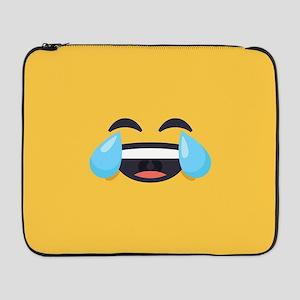 "Cry Laughing Emoji Face 17"" Laptop Sleeve"