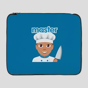 "Emoji Master Chef 17"" Laptop Sleeve"