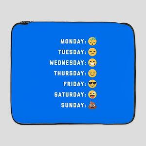 """Emoji Days of the Week 17"""" Laptop Sleeve"""