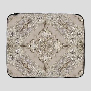 """glamorous girly Rhinestone lace  17"""" Laptop Sleeve"""