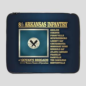 "8th Arkansas Infantry (BH2) 17"" Laptop Sleeve"