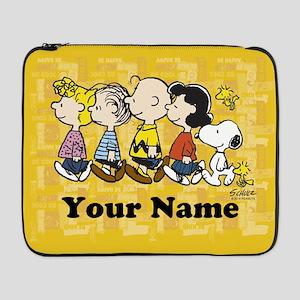 "Peanuts Walking Personalized 17"" Laptop Sleeve"