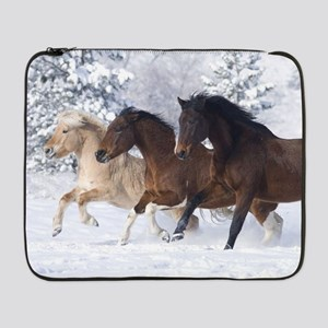 "Horses Running In The Snow 17"" Laptop Sleeve"