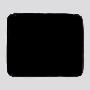 """Simply Black Solid Color 17"""" Laptop Sleeve"""
