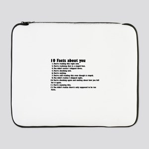 "10 Facts about you 17"" Laptop Sleeve"