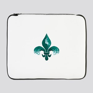 """Tulane Fleur-De-Lis 17"""" Laptop Sleeve"""