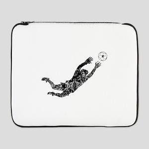 """Vintage Soccer Goalie 17"""" Laptop Sleeve"""