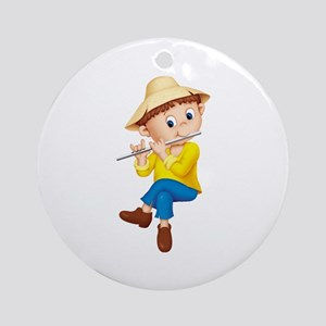 Flutist Ornament (Round)