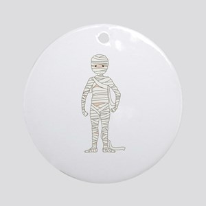 Mummy Ornament (Round)