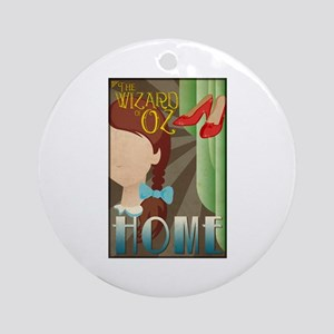 Wizard of Oz Dorothy Deco Poster Design Round Orna