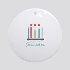 Love Chemistry Round Ornament