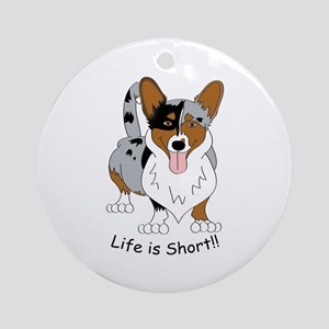 Cardigan Corgi Ornament (Round)