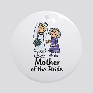 Cartoon Bride's Mother Ornament (Round)