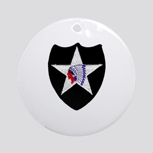 2nd INFANTRY Ornament (Round)