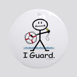 Lifeguard Ornament (Round)