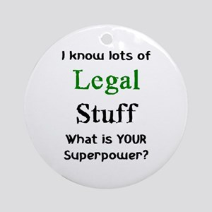 legal stuf Round Ornament