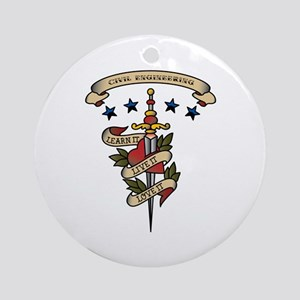 Love Civil Engineering Ornament (Round)
