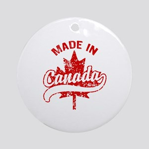 Made In Canada Ornament (Round)