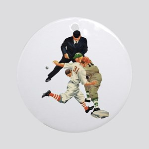 Vintage Sports Baseball Ornament (Round)