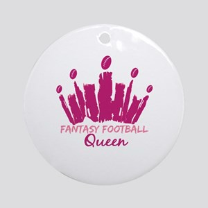 Fantasy Football Queen Ornament (Round)