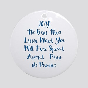 Joy Round Ornament