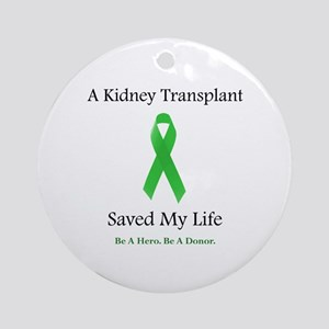 Kidney Transplant Survivor Ornament (Round)