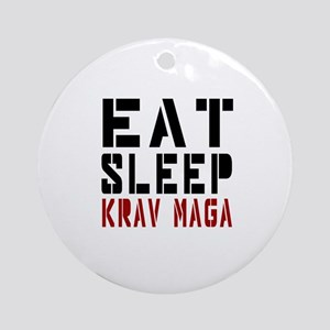 Eat Sleep Krav Maga Round Ornament