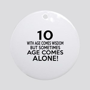10 Awesome Birthday Designs Round Ornament