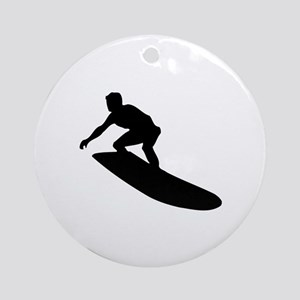 Surfing Ornament (Round)