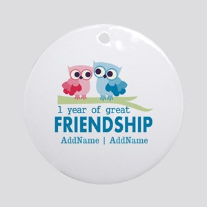 1st Anniversary Personalized Ornament (Round)