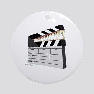 """Snapboard"" Clapboard Round Ornament"