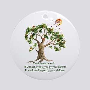 Kenyan Nature Proverb Ornament (Round)