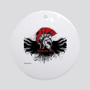 Spartan Life Round Ornament