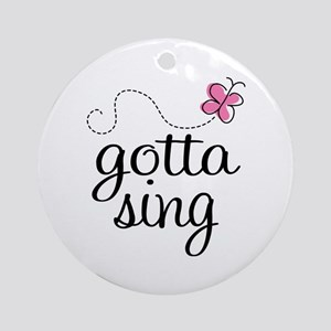Singing Addict Ornament (Round)
