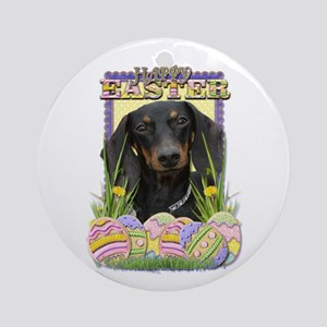 Easter Egg Cookies - Doxie Ornament (Round)