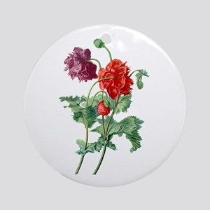 Opium Poppy Drawn From Nature Ornament (Round)