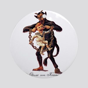 Gruss vom (Greetings From) Krampus Round Ornament