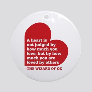 Wizard of Oz - Heart Judged Ornament (Round)