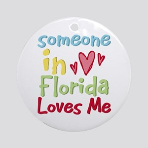 Someone in Florida Loves Me Ornament (Round)