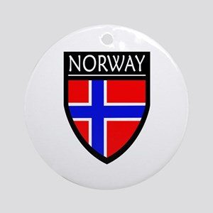 Norway Flag Patch Ornament (Round)