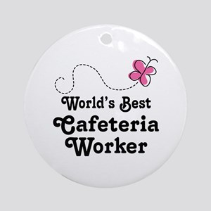 Cafeteria Worker Gift Ornament (Round)