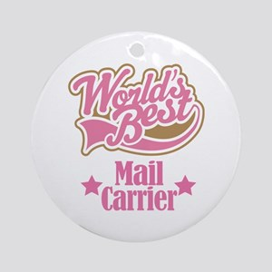 Mail Carrier Gift Ornament (Round)