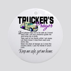 Trucker's Prayer Ornament (Round)