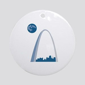 St. Louie Arch Ornament (Round)